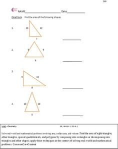 best th grade common core worksheets images  common core math  geometry  sixth grade common core math worksheets  all standards