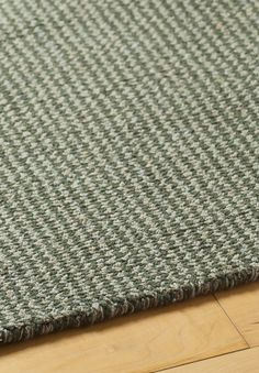 Crossweave Taupe/Green Eco Cotton Loom-Hooked Rug  |  Plush, hand-woven, made from recycled eco cotton, using no latex, chemicals or dyes. #freeshipping  hookandloom.com