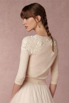 sooooo cute!!  BUT:  JULY BHLDN Millie Sweater in  Bride Bridal Separates Tops at BHLDN