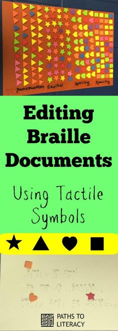 Using tactile symbols to teach beginning braille students to edit their own documents