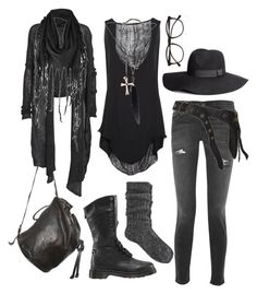 """just casually braving the apocalypse"" by n-nyx ❤ liked on Polyvore featuring Dr. Martens, Current/Elliott, Raquel Allegra, River Island, Ann Demeulemeester, AllSaints, Helmut Lang, Firetrap, Illesteva and Dsquared2"