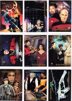 Vintage Star Trek Trading Cards From Skybox Master Series 1993 Assorted Lot Of 18 Cards - Star Trek: The Next Generation - Original Series by winterparkcollect on Etsy