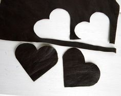 diy leather heart