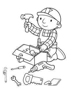 Bob the Builder Coloring Pages . 30 Inspirational Bob the Builder Coloring Pages . Bob the Builder to Print for Free Bob the Builder Kids Free Kids Coloring Pages, Fish Coloring Page, Toddler Coloring Book, Cartoon Coloring Pages, Coloring Pages To Print, Free Printable Coloring Pages, Colouring Pages, Free Coloring, Coloring Pages For Kids
