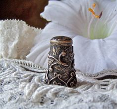 Vintage Sterling Silver Thimble by cynthiasattic on Etsy, $45.00
