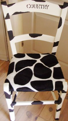 Cow Country chair by www.facebook.com/1458AMatterofStyle