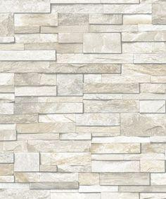 Dutch Wallcoverings Exposed stenen beige PE08035 - leisteen behang - steen behang - steen in huis - De Behangwinkelier