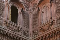 Photograph Ornate jharokhas (balconies), Zenana section, Mehrangarh by Manoj Radhakrishnan on 500px