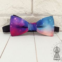 Bow Tie Space 2 Bowtie space pattern Blue bow tie от BowTieYAKUT