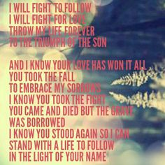 Love is War- Hillsong United While it may not be as wildly popular as Oceans, this song is amazing. Love is hard to hold on to sometimes. It is a fight to love.