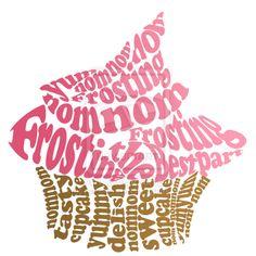 Pink Cupcake Typography