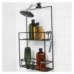 Etagere de douche pratique qui s'installe sur votre pommeau de douche, votre vitre ou avec des ventouses Dimensions : 53x31cm Umbra…Voir la présentation