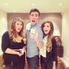 Louise Zoe and Alfie love you xx British Youtubers, Best Youtubers, Pointless Blog, Youtube Vloggers, Marcus Butler, Zoe Sugg, Joey Graceffa, People Videos, Zoella