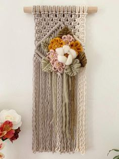 Your place to buy and sell all things handmade Weaving Projects, Macrame Projects, Crochet Projects, Yarn Crafts, Diy Crafts, Boho Tapestry, Weaving Textiles, Macrame Art, Macrame Tutorial