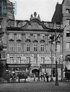 Václavské náměstí /U zlatého beránka/ Prague Czech Republic, Old Paintings, Environment Design, Bratislava, Beautiful Buildings, More Pictures, New Mexico, Black And White, City