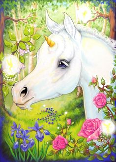 Now that you have seen me said the Unicorn, You can believe in me and I can believe in you.             Unicorn Art ACEO Foal Horse Fairy Fantasy by DeLaRenaissance, $10.00