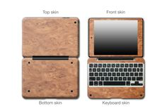 Light Burl Wood #ClamCasePro #Pro #iPad #iPadMini #Apple #Tablet #Tablets #Computers #Keyboard #Gadget #Gadgets #Electronics #Electronic #Shield #Shields #Protector #Protectors #Decals #Skin #Skins #Wrap #Wraps #Vinyl #3M #Wood #Mahogany #Ebony #Kyrobe #Persimmon #Walnut