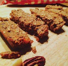 Gezonde granola-repen. healthy snack, sugar free, gluten free, vegan, skinny, food pic, healthy granola bar