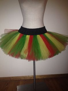 Adult Large Reggae Red Yellow and Green Tutu by lookatmybooties, $45.00