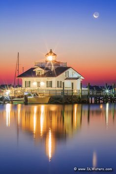 Roanoke Marshes Lighthouse in Manteo, North Carolina