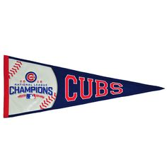 Chicago Cubs National League Champions 2016 NLCS Embroidered Wool Red Pennant