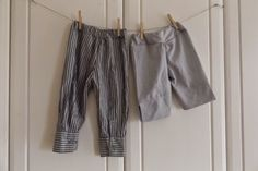 Hosen aus Hemd und Bluse / Trousers made from shirt and blouse / Upcycling