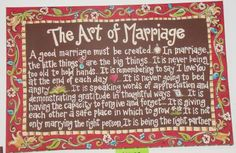 TEXT: A good marriage must be created. In marriage, the little things are the big things…It's is never being too old to hold hands…It is remembering  …