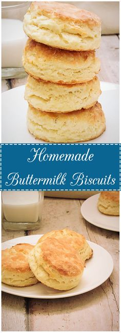 Buttery, flaky, and tender.  Homemade buttermilk biscuits are a simple yet classic way to add a touch of Southern comfort food to your weekend.  via @berlyskitchen
