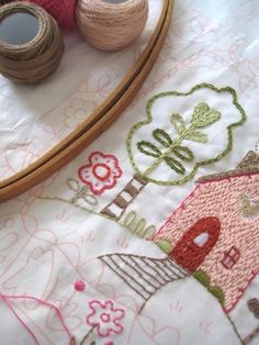 Lovely embroidery pattern by Charlotte Lyons on Etsy