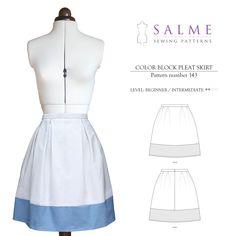PDF Sewing pattern - Color Block Skirt by Salmepatterns on Etsy https://www.etsy.com/listing/119859374/pdf-sewing-pattern-color-block-skirt