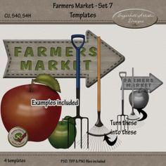 Farmers Market Set 7 Templates