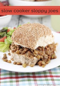 Looking for the perfect Labor Day backyard meal? These Slow Cooker Sloppy Joes are easy and delicious!