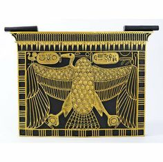 Ancient Egyptian Nekhbet Cartouche Wall Sculpture Décor by EttansPalace. $102.34. Own one of the original jewels of Tutankhamen! Derived from an elaborate collar necklace or pectoral owned by the king, this historic image depicts the vulture goddess, Nekhbet, patron of Upper Egypt and of heaven. Our protectress of King Tut is cast in quality designer resin to capture details from claws to wings, and then hand-painted in faux gold and basalt to please the discr...