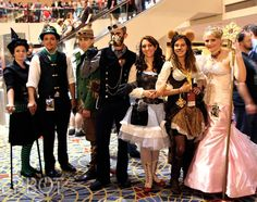 REFERENCE: for steampunk Costumes & Staging !! - MIGHT be helpful at some point in time!  ~~~~~~~~~~~~   Amazing details on this steampunk Wizard of Oz cosplay group!