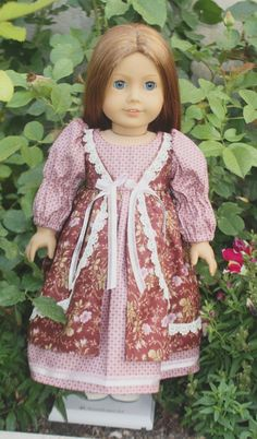 American Girl May Faire Gown in Mauve by RuthielovestoSew on Etsy, $38.00