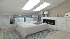 Attic Bedroom Decor, Attic Master Bedroom, Attic Bedroom Designs, Upstairs Bedroom, Attic Bedrooms, Bedroom Loft, Home Bedroom, Loft Conversion Wardrobes, Loft Conversion Bedroom