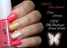 SYONP #05: Agnès b. Rose Sunset (mini b.) by I'm A Nail Art Addict!