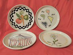 (4) Rare BENNINGTON POTTERS Mid Century Abstract Plates –DAVID GIL–Pop Art-EXC | eBay Bennington Pottery, Pop Art, Decorative Plates, Mid Century, David, Abstract, Tableware, Ebay, Home Decor