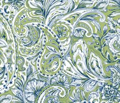 Paisley - Olive fabric by jane_kriss on Spoonflower - custom fabric