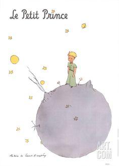 Le Petit Prince et son Asteroide Art Print by Antoine de Saint Exupery at eu.art.com