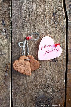 Heart shape Saint Valentine's gingerbread Cookies