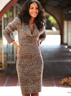 Neck Sweater Dresses