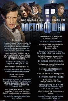 Dr Doctor Who Everything I Know . Wall Poster - Matt Smith Amy River Rory Tardis