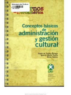 I'm reading Conceptos Básicos de Administración y Gestión Cultural. on Scribd