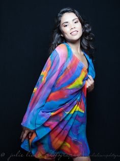 Colorful silk kimono silk jacket colorful silk  by SilkArtbyLiene, $186.00