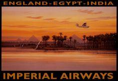 Imperial Airways, Egypte Kunstdruk
