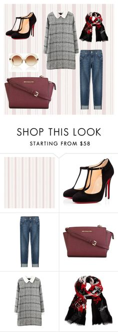 """""""Casual daily wear for hijaber"""" by arianipermana on Polyvore featuring Christian Louboutin, 7 For All Mankind, MICHAEL Michael Kors, Diane Von Furstenberg, Linda Farrow, women's clothing, women's fashion, women, female and woman"""