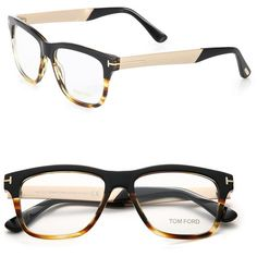 Tom Ford Eyewear Square Optical Glasses (640 CAD) ❤ liked on Polyvore featuring men's fashion, men's accessories, men's eyewear, men's eyeglasses and apparel & accessories