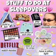 things to do at a sleepover Dress Stores For Tweens Birthday Sleepover Ideas, Sleepover Party Games, Teen Sleepover, Sleepover Activities, Birthday Party For Teens, Slumber Parties, Teenage Sleepover Ideas, 14th Birthday, Diy Birthday