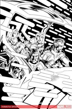 First Look At Pencils From Matt Fraction And Mark Bagley's FANTASTIC FOUR #1